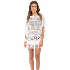 Trina Turk French Lace Tunic Swim Cover Up NWT L